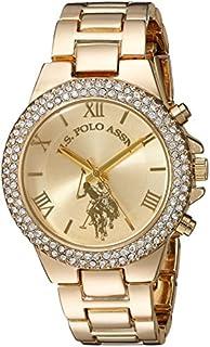U.S. Polo Assn. Women's Gold-Tone Analog-Quartz Watch with Alloy Strap, 8 (Model: USC40032)