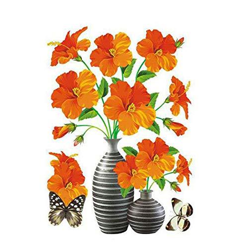 Ganghuo DIY Pflanze Vase 3D Stereo Aufkleber Selbstklebend Wand Kühlschrank Dekoration Wasserdicht