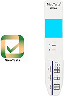 NICOTESTS - Nicotine/Tobacco Urine Test Kit for Employment, Medical, and Insurance use - Easy to use, fast and accurate results