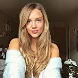 Ombre Blonde Lace Front Wigs for Women Long Wavy...