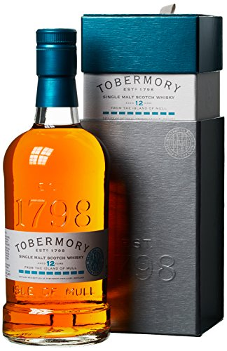 Tobermory 12 Years Old Manzanilla Finish Whiskey mit Geschenkverpackung (1 x 0.7 l)