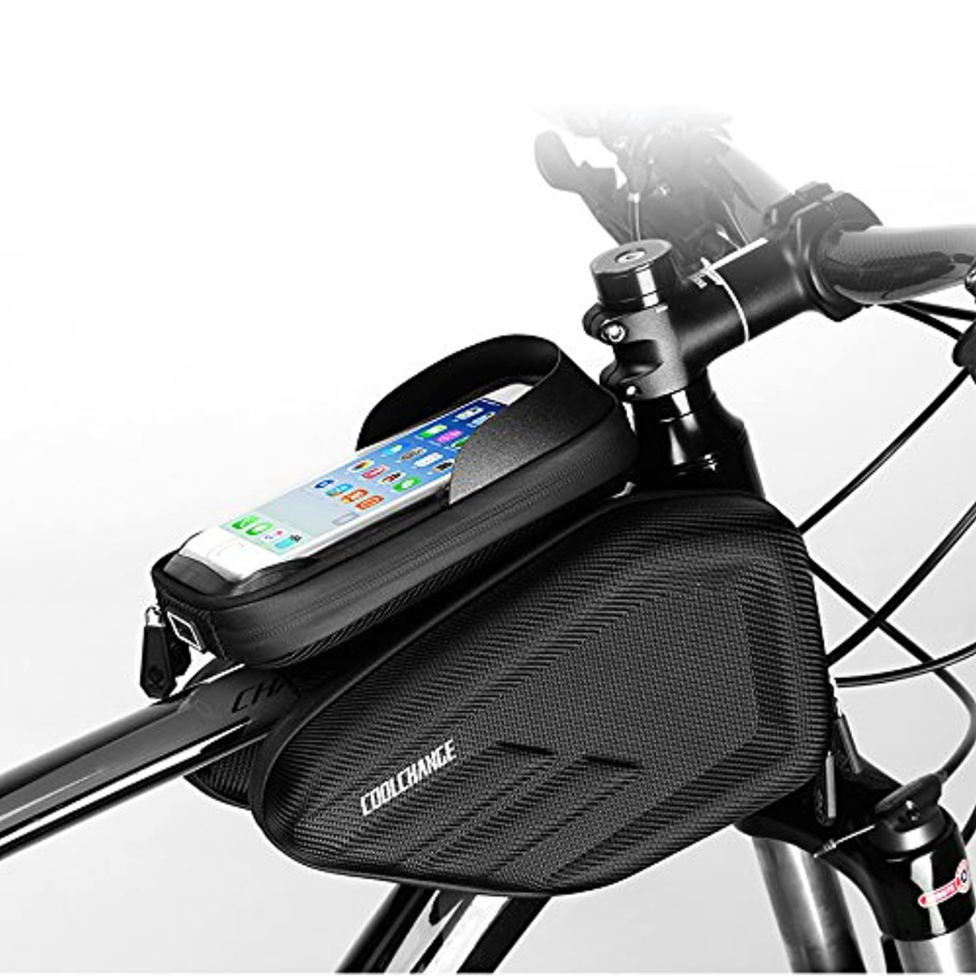 迫害する保証する残忍なSkysper 自転車 フレームバッグ Touch ID対応できる フロントバッグ 防水 6.0 インチ タッチスクリーン機能 収納アクセサリー ロードバイク携帯ホルダー