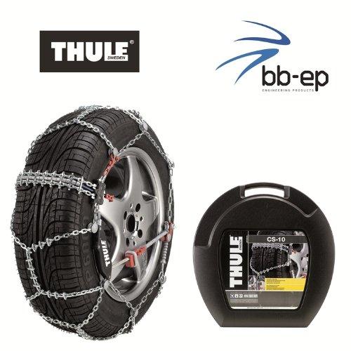 Premium Cadenas de nieve–Thule CS de 10–Para los Neumáticos Talla 225/40R19Cadena Eslabones 10mm–con Icebreaker Sistema