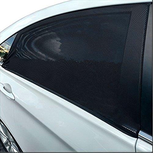 GOLDGE 2 Pezzi Tendine Parasole Auto Finestrino Laterale Bambini Universali Parasole Protezione Raggi Solari UV, Insetti, Privacy e Antipolvere, Adatto a Auto Posteriore Finestra di Vari, 110 * 50cm