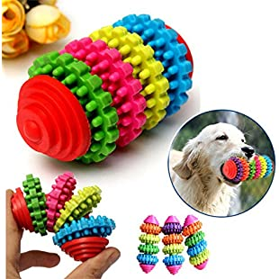 Bazaar 4 Floor Colorful Pet Dog Slide Gear Molar Teeth Cleaning Chew Toy:Autobit
