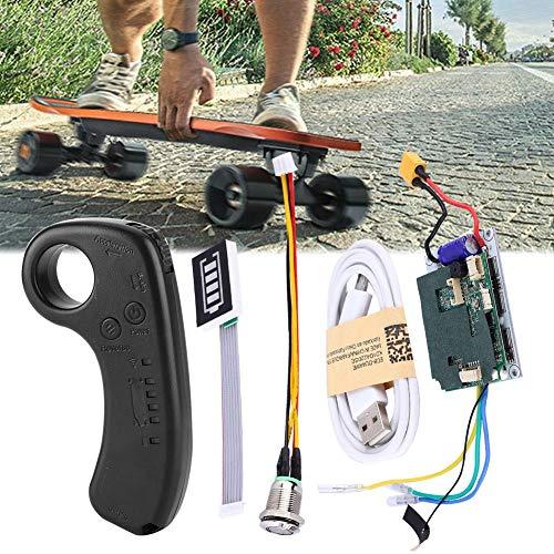 AYNEFY Skateboard Controller ESC,Elektrisches Skateboard Longboard Single Drive ESC Ersatzsteuerung Mainboard mit Fernbedienung