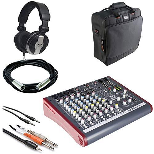 Allen & Heath ZED-10FX Mehrzweck-Mixer-Mixer, Gator Cases G-Mixerbag + Kopfhörer + XLR Mikrofonkabel + Instrumentenkabel & Stereo-Kabel