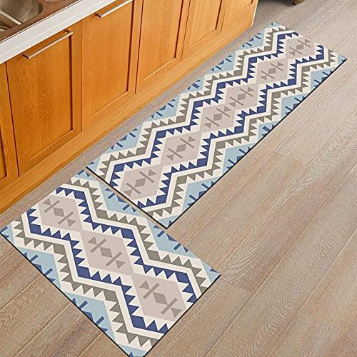 WESG Alfombrillas Antideslizantes de Cocina, alfombras Lavables de baño, Estampados Bohemios, alfombras de Sala de Estar y Dormitorio, alfombras de Puerta NO.1 50X80cm