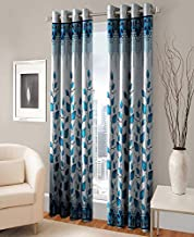 Roseate Modern 2 Piece Eyelet Polyester Window and Long Door Curtain