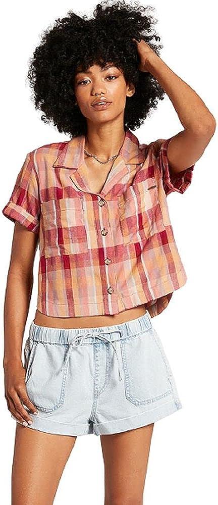 Max 51% OFF Volcom Women's Sunday Challenge the lowest price of Japan Strut Short Waist Elastic