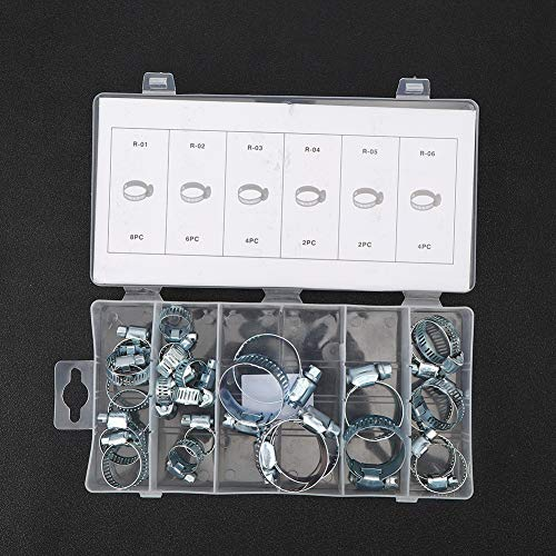 【𝐖𝐞𝐢𝐡𝐧𝐚𝐜𝐡𝐭𝐞𝐧 𝐍𝐢𝐞𝐝𝐫𝐢𝐠𝐬𝐭𝐞𝐫 𝐏𝐫𝐞𝐢𝐬】 Rohrschelle, Silber Edelstahl 26PCs Rohrverschluss, zum Befestigen von Rohrleitungen Befestigen Sie Gasleitungen