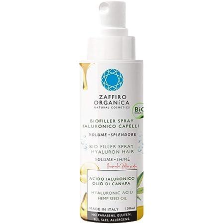 Zaffiro Organica Spray BIO FILLER para cabello con Ácido Hialurónico Proteínas de Seda Queratina vegetal • Volumen✓ Desenredante✓ Hidratante ✓ ...