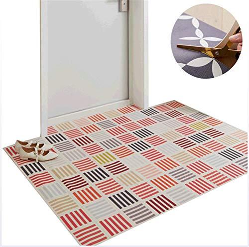 Jiahe Ultra-dünne Bodenmatten 4 Styles (geschnitten Werden) Fußmatte Haustür-Eingang Mats 5 Größen,D,75 * 45 * 0.2cm