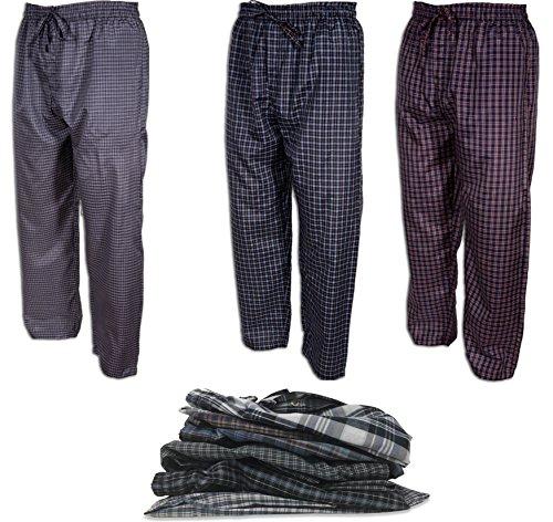Andrew Scott Men's 3 Pack Super Light Weight Lounge Sleep Pants (XL (40-42), Assorted Patterns)