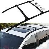 4pcs de Aluminio for techos de rieles for Rack Barras transversales en Forma for Honda- CRV CR-V 2017-2020 Porta Carga de Equipaje de la Barra Cruzada Transporte de Carga - Negro (Color : Black)