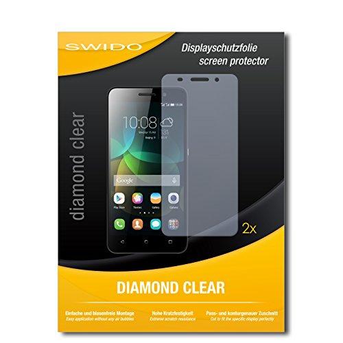 2 x SWIDO® Bildschirmschutzfolie Huawei Honor 4c Schutzfolie Folie