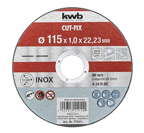 KWB 49711911 Discos de corte kwb para metal y acero inoxidable, diámetro...