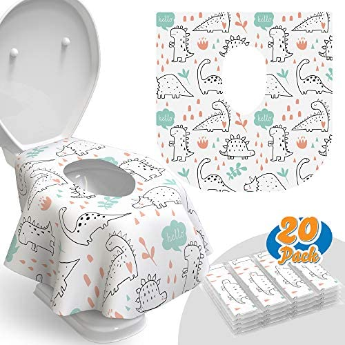 Toilet Seat Covers Disposable 20 Pack Waterproof Ideal for Kids and Adults Extra Large Individually product image