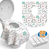 Toilet Seat Covers Disposable - 20 Pack - Waterproof, Ideal for Kids and Adults – Extra...