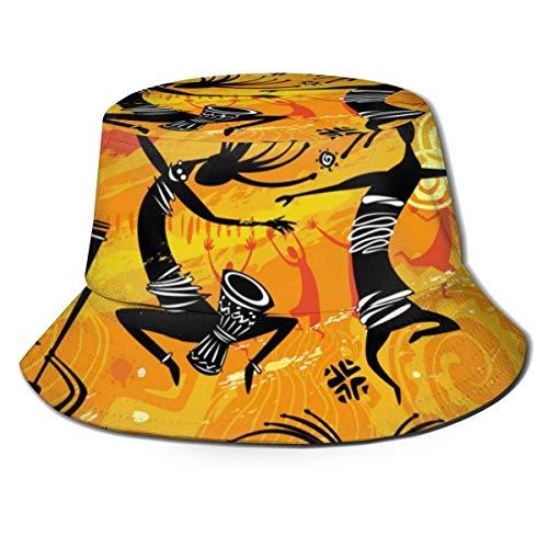 Lawenp Figuras de Baile en un Estilo primitivo Hombres Mujeres Sombrero para el Sol Sombrero de Pescador Proteccin UV Senderismo al Aire Libre Pesca Gorra de Moda Lavada