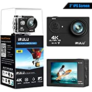 "iRULU AA3 Action Camera 4K SONY Sensor 16MP Wi-Fi Sports Camera with 2"" 4X Zoom Underwater Waterproof Camera 170°Wide Angle with 2 Batteries and Abundant Mounting Accessory Kits - Free Carrying Case"
