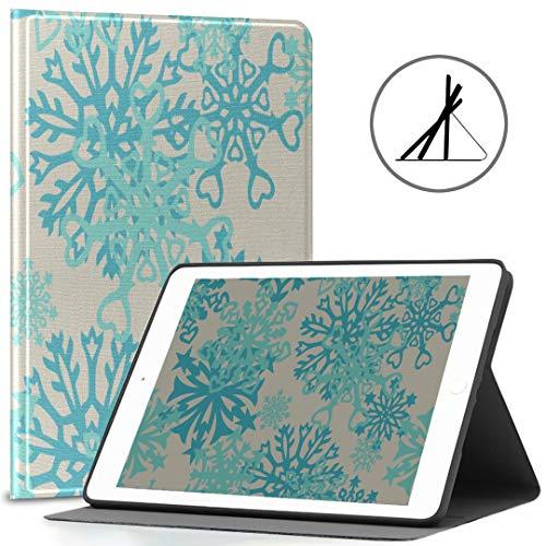 Fundas para iPad 9.7 pulgadas mandala copo de nieve forma flor ajuste 2018/2017 iPad 5ª/6ª generación niñas Ipad caso 9.7 también ajuste iPad aire 2/ipad aire auto despertador/sueño