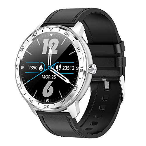Wscoficey Reloj inteligente, IP68 resistente al agua con monitor de sueño/ritmo cardíaco, pantalla IPS Full Touch, múltiples modos deportivos p