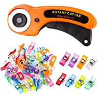 Zmaagg 45mm Rotary Cutter with 50 Sewing Clips