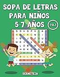 Sopa de letras para niños 5-7 años: 200 Sopa de letras para Niños de 5, 6, 7 Años con Soluciones - Entrena la Memoria y la Lógica Vol 1