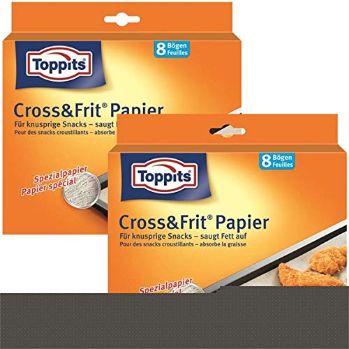 10 x Toppits® Cross&Frit Papier / Back-Spezialpapier (8 Bögen - 37 x 30 cm) SAUGSTARK