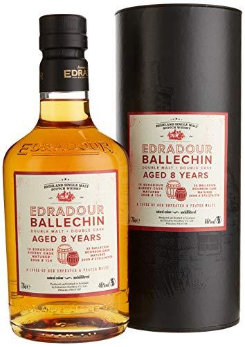 Edradour Ballechin 8 Years Old Double Malt Cask mit Geschenkverpackung Whisky (1 x 0.7 l)