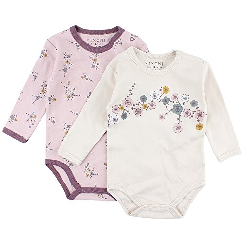 Fixoni Free 2-pc LS Body, Rose (20-54 Burnished Lilac 20-54 Burnished Lilac), 56 cm (Lot de 2) Bébé Fille