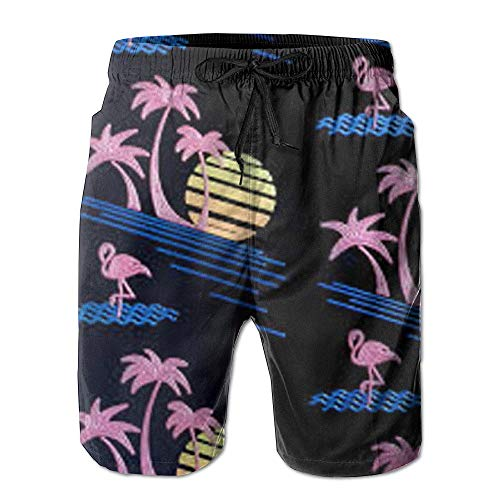 Qfunny Sun Tress Men's Quick Dry Beach Board Shorts Summer