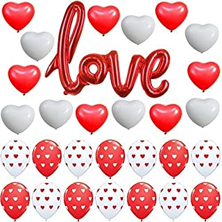 Red Love Script Balloons Kit - Valentine Decorations - Great Bed Room Decorations - Valentines Day Decorations