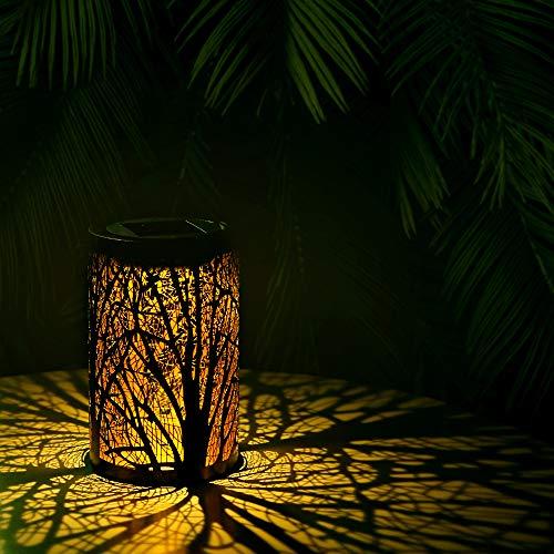 Solarlaterne für außen, Solar Laternen IP44 Wasserdichte für Außen Garten, Dekorative Solarlampe Hangend Solarleuchten, Metall LED Solar Laterne für Draussen Baum Patio [Energieklasse A+] (1 Stück)