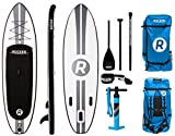 iROCKER All-Around Inflatable Stand Up Paddle Board 11' Long 32' Wide 6' Thick SUP Package (White)