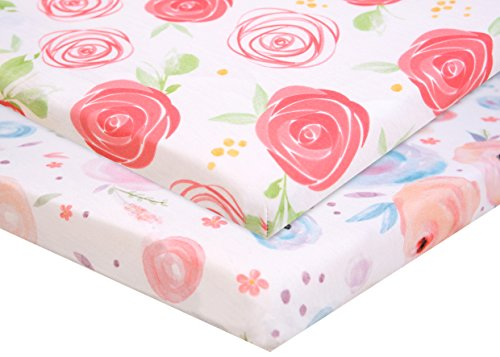 Cheapest Price! Pack n Play Fitted Pack n Play Playard Sheet Set-2 Pack Portable Mini Crib Sheets,Pl...