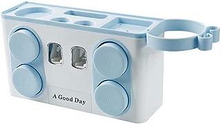 Kushim 歯ブラシスタンド 歯ブラシホルダー 自動歯磨き粉ディスペンサー 洗面用品 浴室用ラック