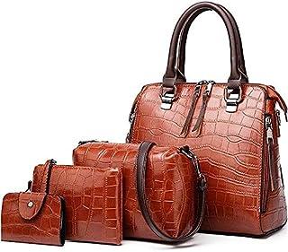 حقيبة للنساء-بني - مجموعة حقائب اليد