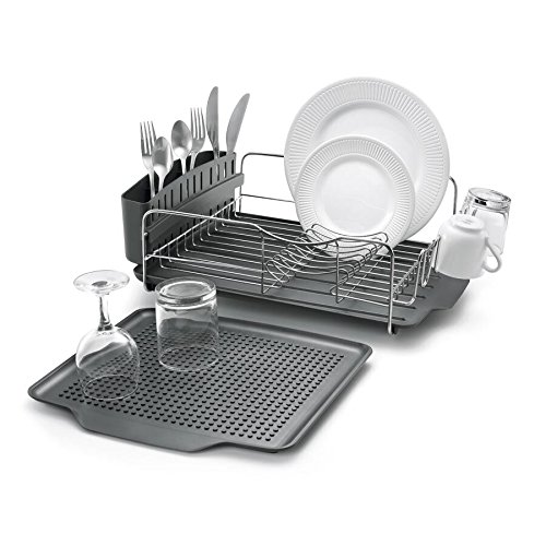 Polder KTH-615 Dish Rack & Tray 4 PC Combo–...
