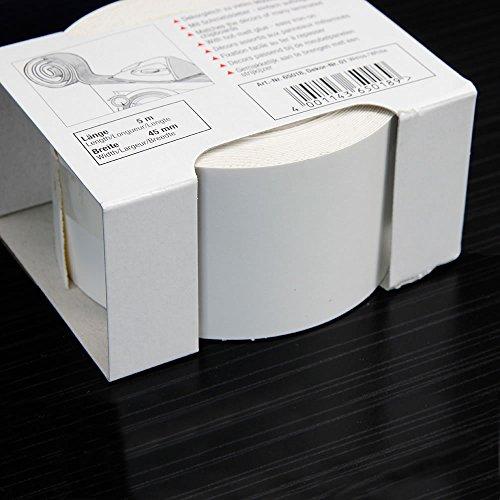 Kantenumleimer für Möbelbauplatten und Regalbretter Weiß 5 m x 45 mm