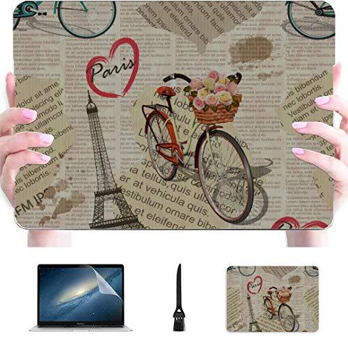 Macbook Air Case 2018 Bicycle Around Flower Cartoon Fashion Plastic Hard Shell Compatible Mac Air 13