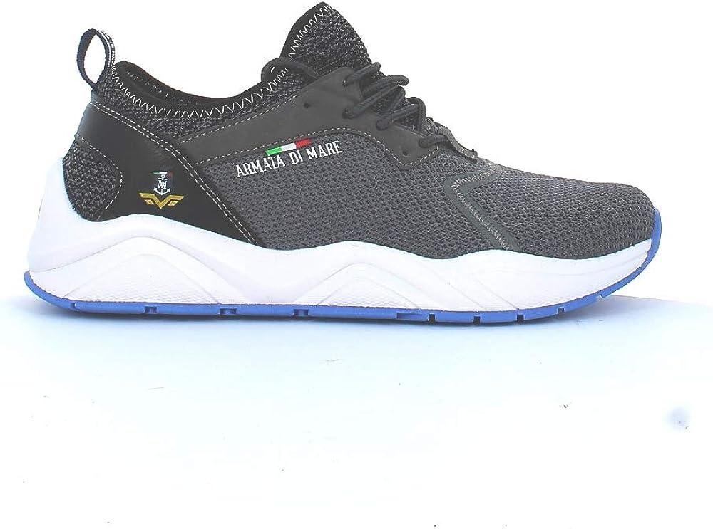 Armata di mare , scarpe per uomo, sneakers Alte , in pelle sintetica e tela P2N046