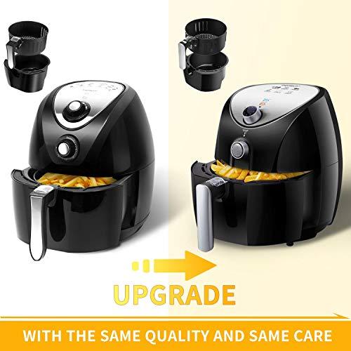 Aigostar Dragon Pro 30LDX - Freidora de aire sin aceite, capacidad 3,2 l, 1500W, cesta antiadherente, selector de temperatura 80-200°, apagado automático. Libre de BPA. Diseño exclusivo.