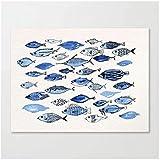 Muzimuzili Arte de Pared de Acuario Moderno Lienzo Modular HD Impreso póster imágenes de Animales decoración de Sala de estar-50x70cm sin Marco