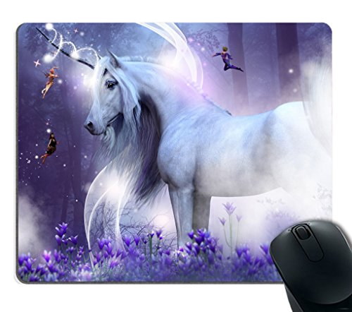 Smooffly Gaming Mouse Pad Custom,Fantasy Unicorn Faries Customized Rectangle Non-Slip Rubber Mousepad Gaming Mouse Pad