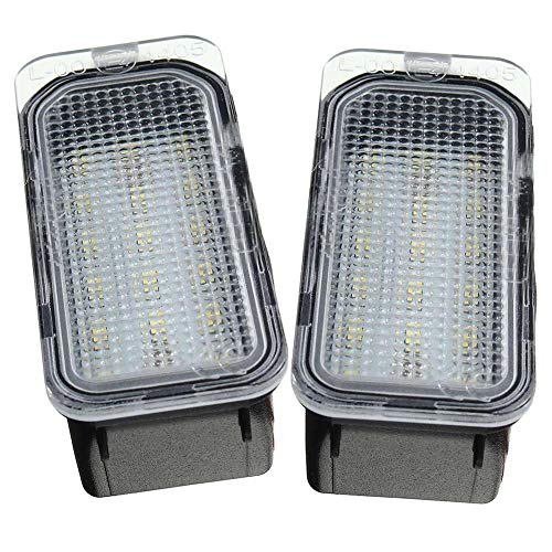 2X Number License Plate Light For Ford FOCUS MK II FIESTA MK VII MONDEO MK IV KUGA S-MAX 2008-2019 Number Plate Lights
