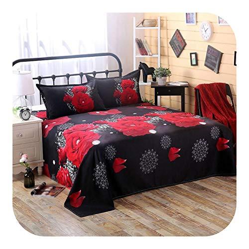 Eileen Ford Kinderbett Kinderbett Bettwäsche Set Mädchen, 3 Stück/Set Romantische 3D Rosenmuster Druck Bettlaken Kissenbezug Bettwäsche Set-Style 3-Flat Bettlaken