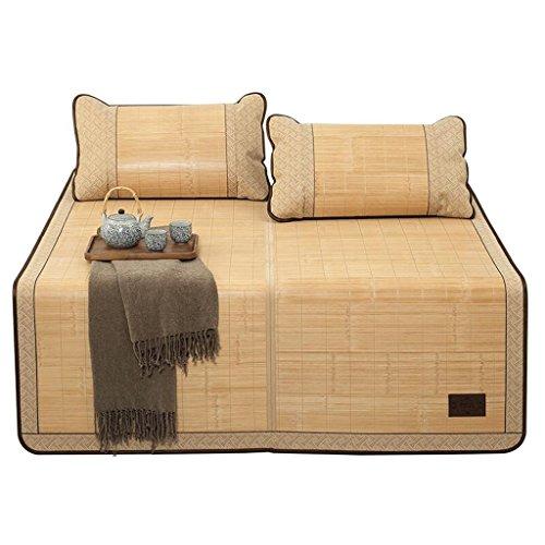 Liuyu · Tapis pliable en bambou à trois pièces Tapis simple ou double face à 1,5 m 1,8 m Sièges à air conditionné Mats 1.2 La première couche de bambou vert bambou et de rotin Rectification recto-vers