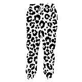 Pantalones Basculador Largo Animal Print 3D Snow Leopard Sweatpants Pantalones...